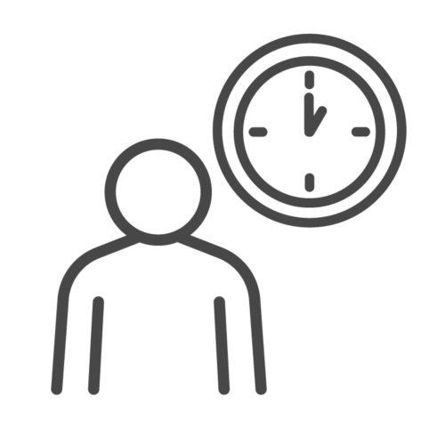 Arbeit in Vollzeit und Teilzeit